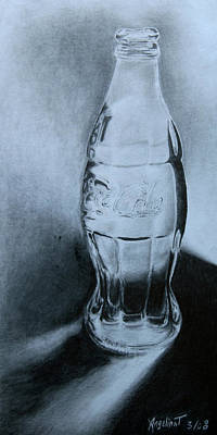 Glass Bottle Drawing - Coca-cola For You  by Angelina G T