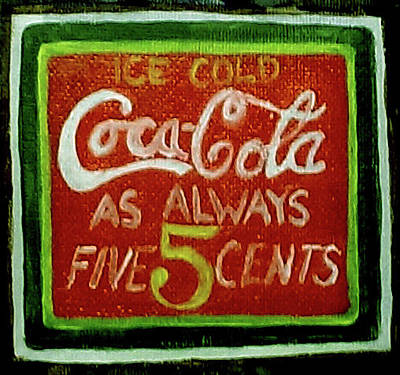 5 Cents Painting - Coca-cola by Kelly Darrah