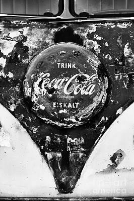 Coca Cola Vw Split Screen Monochrome Print by Tim Gainey