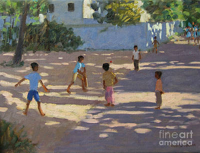 Children Sports Painting - Cochin by Andrew Macara