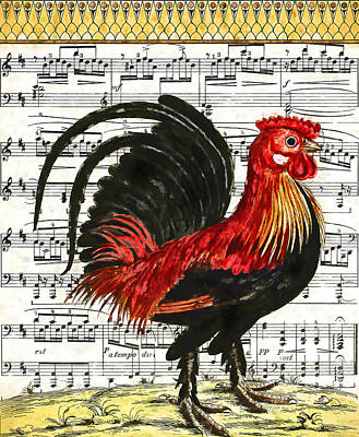 Cock-a-doodle-do Print by John K Woodruff