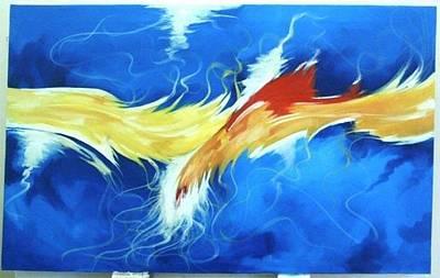 Venkat Painting - Cock Fight by Venkat Meruvu