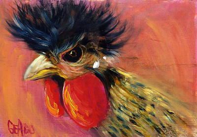 Barnyard Animal Painting - Cock Robin by Sally Seago