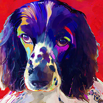 Cocker Spaniel Painting - Cocker Spaniel by Jackie Jacobson