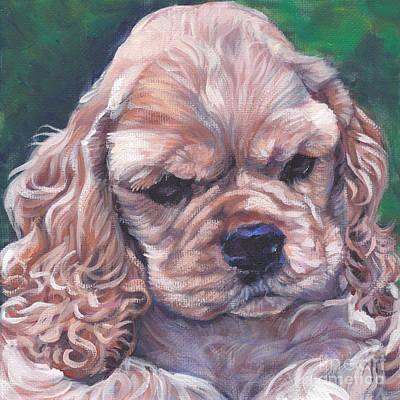 Cocker Spaniel Painting - Cocker Spaniel Puppy by Lee Ann Shepard