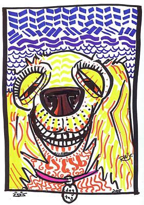 Funny Dog Drawing - Cocker Spaniel by Robert Wolverton Jr
