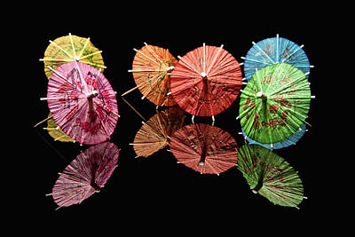 Macro Photograph - Cocktail Umbrellas II by Tom Mc Nemar