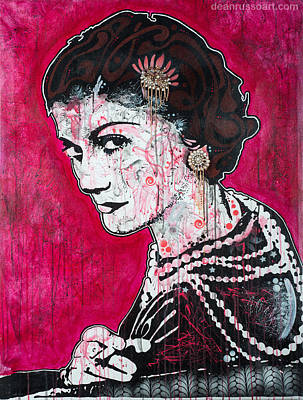Painting - Coco Chanel by Dean Russo
