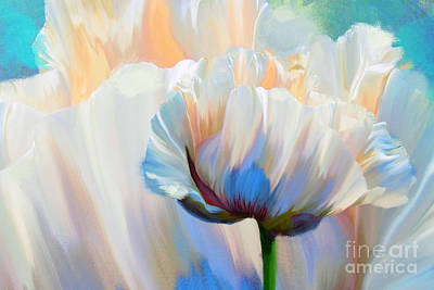 Coco In Love, Dramatic Floral Art Print by Tina Lavoie