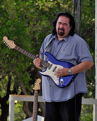 Coco Montoya And His Ocean Blue Fender American Standard Stratoc Print by Ginger Wakem
