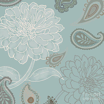 Cocoa Paisley Iv Print by Mindy Sommers