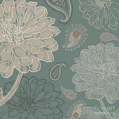 Cocoa Paisley Vi Print by Mindy Sommers