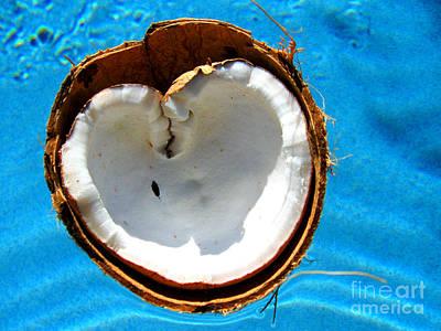 Coconuts Digital Art - Coconut Heart by Jaison Cianelli