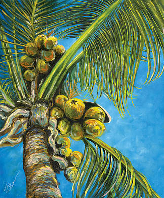 Grande Painting - Coconut Palm by Tammy Olson