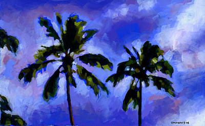 Palm Frond Painting - Coconut Palms 1 by Douglas Simonson