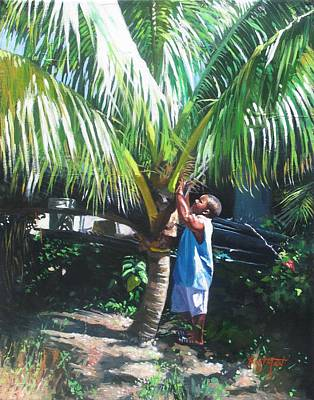 Fruit Tree Art Painting - Coconut Shade by Colin Bootman