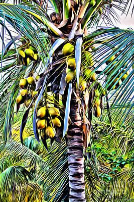 Coconuts Digital Art - Coconut Tree by Carey Chen