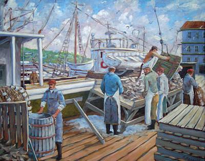 Canadiens Painting - Cod Memories by Richard T Pranke