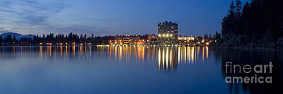 Coeur D Alene Night Skyline Print by Idaho Scenic Images Linda Lantzy