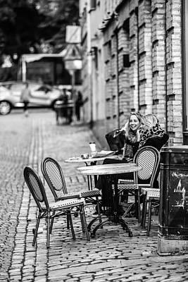 Digital Art - Coffe Outside by Toppart Sweden