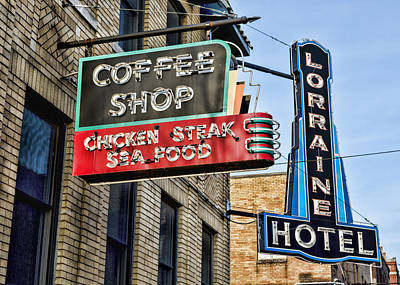 Coffee At The Lorraine Hotel Print by Stephen Stookey