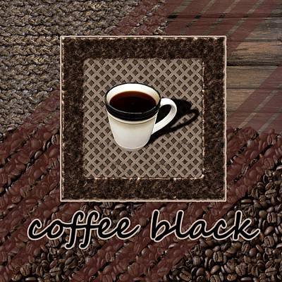 Coffee Black - Coffee Art Print by Anastasiya Malakhova