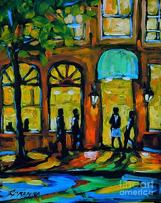 Finding Fine Art Painting - Coffee Break Cafe by Richard T Pranke