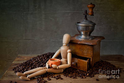 Doll Photograph - Coffee Break by Nailia Schwarz