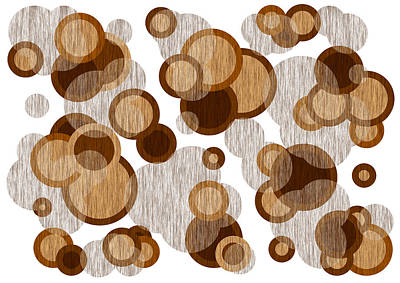 Abstract Painting - Coffee Colored Circles by Frank Tschakert