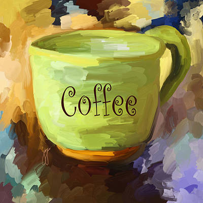 Coffee Painting - Coffee Cup by Jai Johnson