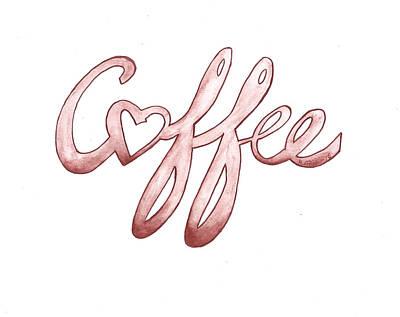 Coffee Print by Edwin Alverio