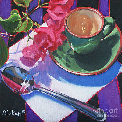 Bougainvilla Painting - Coffee For One by Rivkah Singh