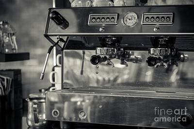 Coffee Machine In Restaurant Print by Anna Vaczi