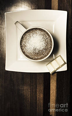Coffee Mocha Cup With White Chocolate Print by Jorgo Photography - Wall Art Gallery