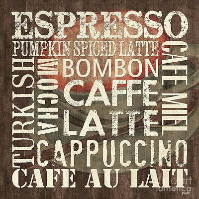 Coffee Of The Day 2 Print by Debbie DeWitt