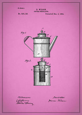 Coffee Grinders Photograph - Coffee Percolator Patent 1894 by Mark Rogan