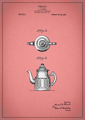 Coffee Grinders Photograph - Coffee Percolator Patent 1921 by Mark Rogan