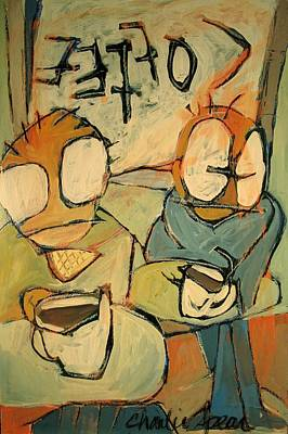 Hangouts Painting - Coffee Shop by Charlie Spear