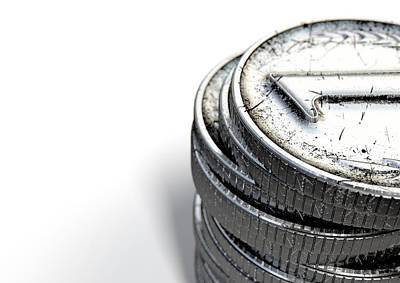 Coin Number One Stack Print by Allan Swart