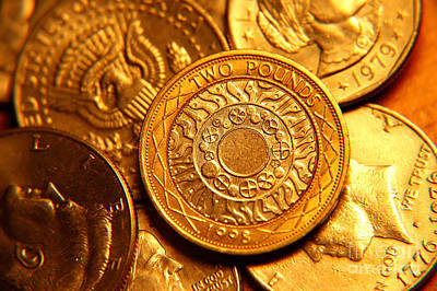 Sterling Photograph - Coins In Macro by Micah May