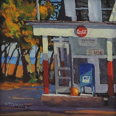 Store Fronts Painting - Coke Ice And Pumpkin Pie by Bill Tomsa
