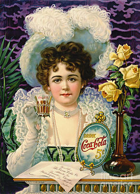 Choker Photograph - Cola Ad 1890 by Padre Art
