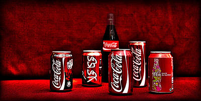 Soda Can Photograph - Cola by Thomas Kessler