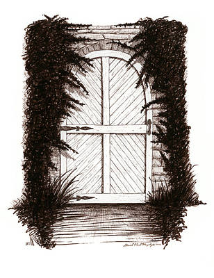 Sepia Ink Drawing - Cold Cellar by Daniel Paul Murphy