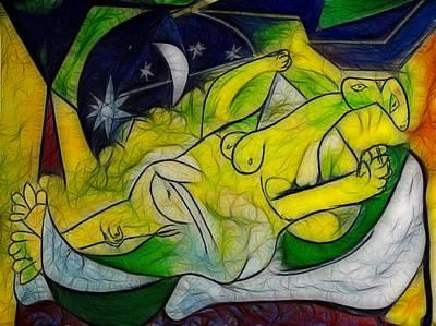 Mood Painting - Cold Feet At Midnight by Joachim G Pinkawa