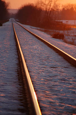 Muscatine Photograph - Cold Line Sunset by Jame Hayes