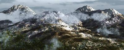 Cold Mountain Print by Richard Rizzo