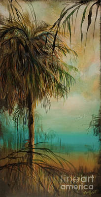 Cold Palm Marsh Print by Michele Hollister - for Nancy Asbell