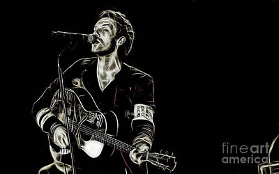 Coldplay Mixed Media - Coldplay Collection Chris Martin by Marvin Blaine