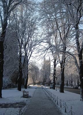 Colleg In Winter Original by Justin Guardiani